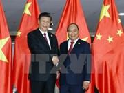 Premier vietnamita Nguyen Xuan Phuc sostiene encuentro con presidente chino, Xi Jinping