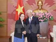 Intensifican cooperación Asamblea Nacional de Vietnam y Senado de Camboya