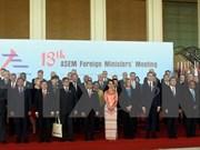 Emiten cancilleres de ASEM declaración sobre fomento de lazos entre Asia y Europa