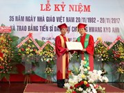 Expremier de Sudcorea recibe doctorado honorífico de universidad vietnamita