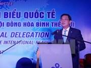 Autoridades de Hanoi se reúnen con representantes del Consejo Mundial de la Paz