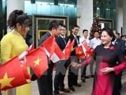 Presidenta del Parlamento vietnamita parte de Hanoi para iniciar visita oficial a Singapur y Australia