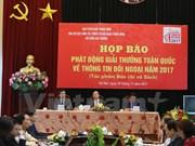 Convocan en Vietnam Premio Nacional de Informaciones al Exterior