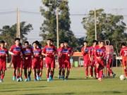 Selección de fútbol sub 23 de Vietnam enfrentará a club sudcoreano de Ulsan Hyundai en un juego amistoso