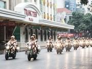 La Policía de Hanoi refuerza seguridad en ocasión del Años Nuevo Lunar 2018