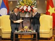 Máximo dirigente de Laos finaliza con éxito su visita a Vietnam