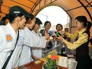 Amenas actividades en Festival de Flores de Da Lat