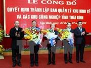 Establecen zona económica de Thai Binh
