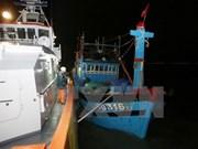 Rescatan oportunamente marineros extranjeros accidentados en mar vietnamita