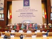 Presidenta del Parlamento vietnamita revisa preparativos de APPF-26