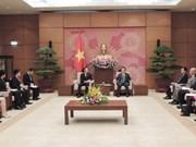 Subjefe del Parlamento de Vietnam recibe a delegación juvenil de PDL de Japón