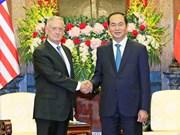 Presidente de Vietnam recibe a secretario de Defensa de Estados Unidos