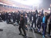 Equipo sub-23 recorre el estadio My Dinh para agradecer a fanáticos