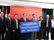 Laos recauda fondos para ayudar a Vietnam a superar consecuencias de tifón Damrey