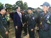 Presidente vietnamita visita a fuerzas armadas en provincia altiplánica de Gia Lai