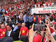 Seguidores del fútbol atestan estadio en Ciudad Ho Chi Minh para recibir al equipo sub-23 nacional