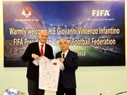 FIFA asistirá al desarrollo del fútbol en Vietnam