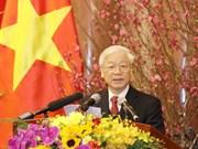 Máximo dirigente partidista de Vietnam extiende felicitaciones del Tet al pueblo