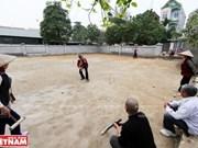 Deporte aristocrático francés en la aldea de Xuan Bach