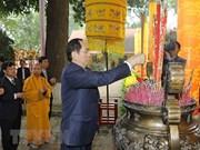 Rinden en ciudadela imperial de Thang Long homenaje a ancetros de la nación