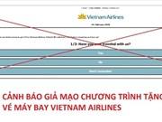 Vietnam Airlines advierte sobre estafa de pasajes gratis