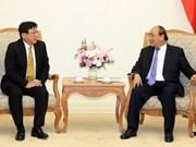 Premier vietnamita recibe a presidente del grupo japonés Sojitz