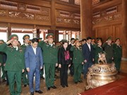 Presidenta del Parlamento rinde homenaje al Presidente Ho Chi Minh en zona K9