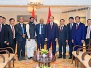 Presidente vietnamita recibe a dirigentes partidistas de la India