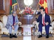Presidentes de Vietnam y Bangladesh acuerdan orientaciones para futuros lazos
