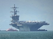 Llega a Vietnam portaaviones USS Carl Vinson