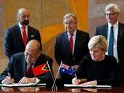 Australia y Timor Leste firman tratado de límites marítimos
