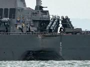 Singapur anuncia causa de colisión entre USS John S.McCain y petrolero Alnic MC