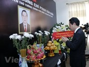 Dirigentes laosianos rinden tributo a Phan Van Khai