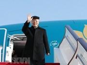 Secretario general del PCV parte de Hanoi para visita oficial a Francia