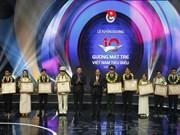 Distinguen en Hanoi a jóvenes más destacados en 2017