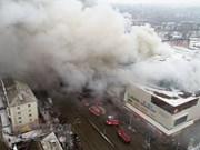 Presidente de Vietnam expresa pésame por incendio de gran centro comercial en Rusia