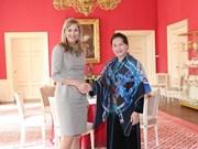 Presidenta del Parlamento de Vietnam continúa actividades en Países Bajos
