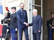 Máximo dirigente partidista de Vietnam se reúne con premier francés