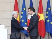 Máximo dirigente partidista de Vietnam envía mensaje de agradecimiento al presidente de Francia