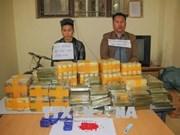 Policía vietnamita confisca 135 ladrillos de heroína y 500 mil pastillas de drogas sintéticas