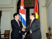 Vietnam y Cuba acuerdan profundizar relaciones bilaterales