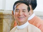U Win Myint jura como presidente de Myanmar