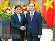 Presidente de Vietnam y primer ministro de Laos se entrevistan en Hanoi
