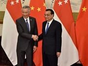 Singapur y China acuerdan fortalecer cooperación en sectores clave