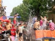 Estudiantes laosianos celebran su año nuevo tradicional en Vietnam