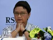 Canciller indonesia llama a las partes a respetar al derecho internacional