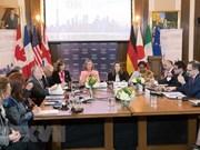 Ministros de G7 emiten comunicado sobre el Mar del Este