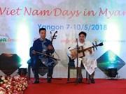 """Celebran por primera vez """"Días vietnamitas"""" en Myanmar"""