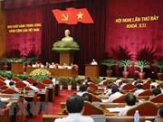 Comité Central del Partido Comunista de Vietnam concluye segunda jornada de su séptimo pleno