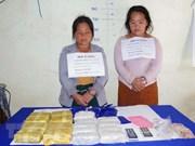 Arrestan a dos traficantes laosianas con 34 mil pastillas de metanfetamina